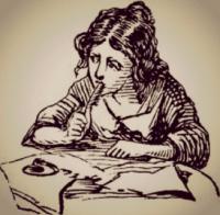 תמונה של אישה כותבת